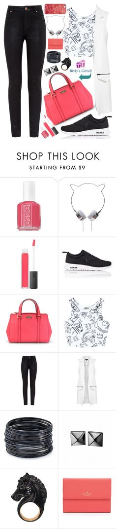 """Give your black bag a break!"" by nvoyce ❤ liked on Polyvore featuring Essie, Bite, NIKE, Kate Spade, Civil, Ted Baker, Topshop, ABS by Allen Schwartz, Waterford and Casetify"