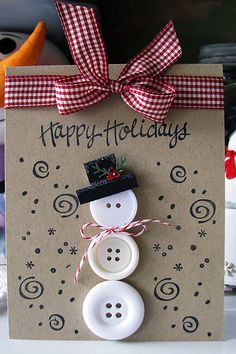 This holiday season hand out these DIY Christmas Cards to your loved ones and tell them how much you care. These Handmade Christmas cards are easy & cheap. Homemade Christmas Cards, Christmas Cards To Make, Homemade Cards, Handmade Christmas, Holiday Cards, Christmas Crafts, Christmas Ornaments, Christmas Snowman, Christmas Nails