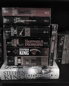 """41 Likes, 1 Comments - Ela Rogers (@elarogers23) on Instagram: """"Some worn spines from a portion of my King collection from youth. Many summers I spent sequestered…"""""""