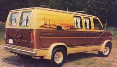 """""""Norwegian Wood"""" Custom Ford van..vk"""