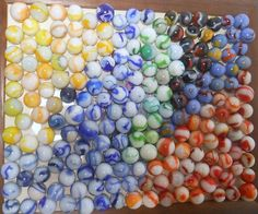 Vintage Marbles Lot of 750 Collectible Clay Glass Handmade Machine Made Glass Marbles, Bright Colours, Best Memories, Glass Ornaments, Contemporary Artists, Old And New, Swirls, Just In Case, Glass Art