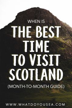 Do you want the most bang for your buck on your trip to Scotland? Do you want moody weather? Any weather? In this month-to-month weather breakdown, it… Europe Destinations, Europe Travel Tips, Travel Guides, Places To Travel, Travel Diys, Travel Goals, Travel Packing, Travel Backpack, Scotland Vacation