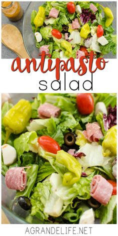 Salad This Antipasto Salad is the perfect side dish for your next pizza night!This Antipasto Salad is the perfect side dish for your next pizza night! Pizza Side Dishes, Pizza Sides, Party Side Dishes, Side Dish Recipes, Dinner Recipes, Dinner Ideas, Anti Pasta Salads, Clean Eating, Healthy Eating
