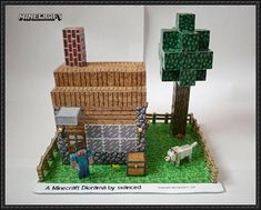 paper minkraft | is another Minecraft paper diorama here: Minecraft Diorama Free Paper ...