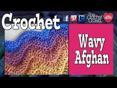 Crochet Ripple Afghan aka Wave or Ripple - YouTube used to make red and white striped American flag.