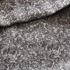 #Seide Jacquard grau   Edler #Seidenjacquard mit faszinierendem Glanz. Bestens geeignet für Westen. Breite in cm: 110 Alexander Mcqueen Scarf, Sparkle, Scarves