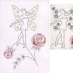 Stitching Cards Fairy Standing