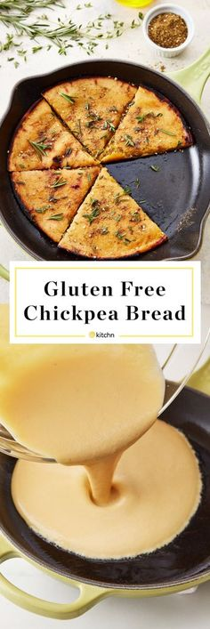 How to Make Healthy Homemade Gluten Free GF Chickpea Flatbread from Scratch. This is great if you're looking for easy ideas and recipes for weeknight dinners or side dishes for meals. Also makes an excellent pizza dough or crust that's also vegan. For this bread, you'll need chickpea flour, olive oil, water, and salt.