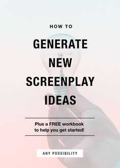 The Idea Generator: A Screenwriting Starter Kit Need a New Screenplay Idea? Use this free workbook to figure out your next big idea! Script Writing, Writing Advice, Fiction And Nonfiction, Fiction Writing, Movie Scripts, Writers Notebook, Informational Writing, Kindergarten Writing, Writing Process