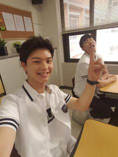 "Nam Joo Hyuk, Sungjae in ""School Sungjae And Joy, Sungjae Btob, Minhyuk, L Kpop, Who Are You School 2015, Por Tras Das Cameras, K Drama, Drama Fever, Nam Joohyuk"