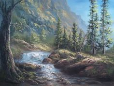 """Oil Painting Waterfall Landscape"" by Kevin Hill  Check out my YouTube channel: KevinOilPainting For more information about brushes, DVDs, events, and more go to: www.paintwithkevin.com"