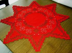 Hardanger Embroidery Beautiful Doily A Christmas Star
