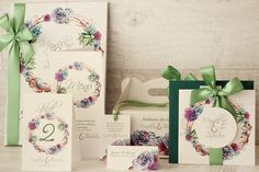 Akwarele w kolorowej kopercie - Amelia wedding