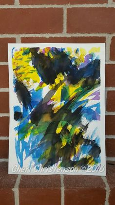 Abstract watercolor by Cheri Christenson