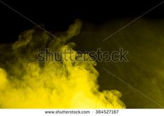 Abstract art. Yellow smoke hookah on a black background. Inhalation. The steam generator. The concept of poison gas.