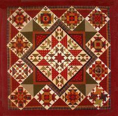 Primitive Folk Art Quilt Pattern  Pieceful by PrimitiveQuilting, $12.00