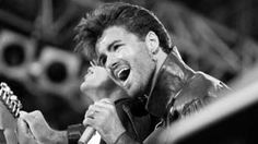 """File photo dated 28/06/86 of George Michael on stage for Wham""""s last sell out concert at Wembley Stadium in London"""