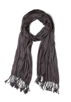 Crinkle in Time Scarf in Charcoal, #ModCloth $15.99