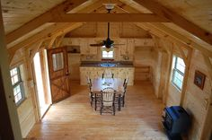 At Amish Cabin Company we build and deliver fully assembled pre-built modular log cabins and log cabin kits of the highest quality. Description from houzz.com. I searched for this on bing.com/images