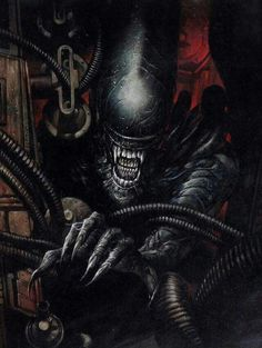 Rival alien races, one of which is the deadliest known form of life in the galaxy while the other is all about hunting and searching for a worthy opponent, and their interaction with humans. Alien Vs Predator, Predator Movie, Predator Alien, Alien Film, Alien Art, Alien 1979, King Kong, Giger Alien, Giger Art
