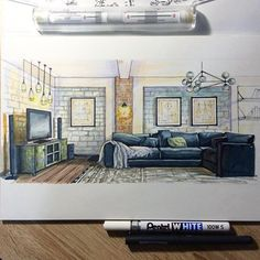 Ähnliches Foto Interior Architecture Drawing, Interior Design Renderings, Drawing Interior, Interior Rendering, Interior Design Portfolios, Watercolor Architecture, Interior Sketch, Modern Interior Design, Architecture Design