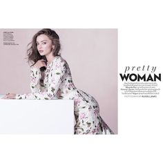 Miranda Kerr Models Pretty Florals Pastels in Vogue Thailand ❤ liked on Polyvore featuring backgrounds