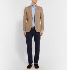 Hackett - Mayfair Slim-Fit Striped Cotton and Linen-Blend Shirt