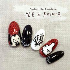 Pin on Móng tay Nail Art Disney, Disney Acrylic Nails, Cute Acrylic Nails, Cute Nails, Ongles Mickey Mouse, Minnie Mouse Nails, Mickey Mouse Nails, Nail Art Designs, New Nail Art Design