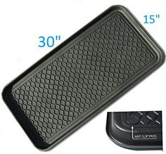 """Have this - works great - getting another one for the garage!!   Mr. Peanut's® Duraflex Anti-Slip Multi-Purpose Tray & Boot Mat * Boots, Shoes, Paint, Pet Feeding, Dog Bowls, Cat Litter Box, Gardening * Floor Protection with Anti-Slip Pads * 30"""" x 15"""" x 1.2"""" Mr. Peanuts http://smile.amazon.com/dp/B018MUBQ20/ref=cm_sw_r_pi_dp_pyrdxb0ZAND3G"""