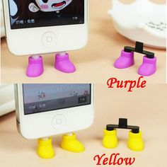 2 in 1 Creative 8 Colors Shoes iPhone Stand Data Port by MilanDIY