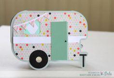 Happy Camper Card by Mary Ann Jenkins for 3 Birds Design #3birdsdesign #middaymedley #card #camper