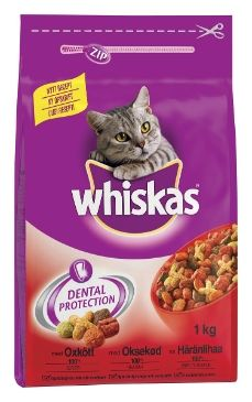 Whiskas Adult Dry Liha 1 kg tai muut tämän sarjan maut