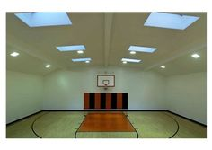Home basketball court. Atherton, CA. Listed by Coldwell Banker Residential Brokerage.