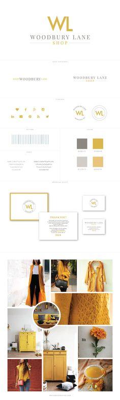 Custom Branding for Woodbury Lane - logo design, wordpress theme, mood board…