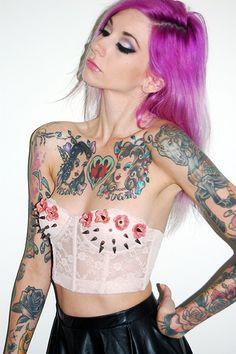 Poison &Sugar tattoos. The Liana - Crop bustier.