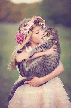 To treasure a warm moment full of spring blossoms & dear friends (especially those with fur)