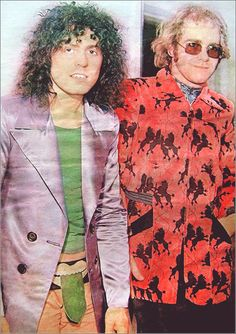 Elton John with Marc Bolan