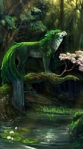 This is a wolf, it's much different then normal, and it may hold the element of forest..