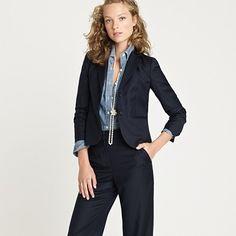 Candidate #2, pinstripes.  http://www.jcrew.com/womens_category/suiting/super120spinstripe/PRDOVR~53998/53998.jsp
