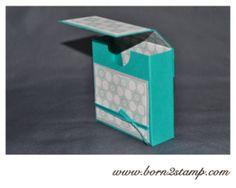 Stampin' UP! Box mit DSP im Block Eiszauber inkl. Anleitung/Tutorial