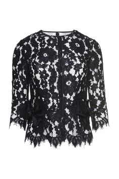 The Marc Jacobs Floral Lace Top is a gorgeous feminine separate that pairs with any pant or skirt. A special floral lace pattern is inspired by archived lace, pieced together to create a print that is truly one-of-a-kind and transferred onto the season's most coveted pieces. //50% Nylon, 50% Cotton//