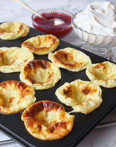 Pannkaksmuffins - Lindas Bakskola & Matskola Doughnut, Breakfast, Desserts, Recipes, Food, Barn, Student, Morning Coffee, Tailgate Desserts