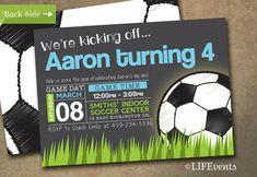 Etsy Find- Soccer Ball Invitations