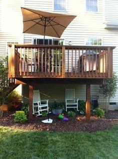 simple elevated deck