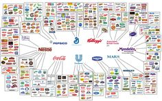 The 10 companies who have bought up and consolidated hundreds of food companies thus creating a Toxic Food Empire