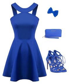 """Beautiful blue"" by siljeask ❤ liked on Polyvore featuring Chicnova Fashion, Jessica Simpson and MICHAEL Michael Kors"