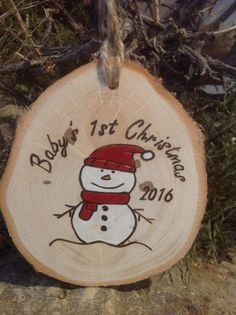 Premier ornement de Noël de bébé personnalisé par BurnwoodCreations