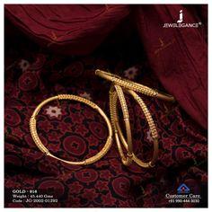 Plain Gold Bangles, Gold Bangles For Women, Gold Bangles Design, Gold Chain Design, Gold Earrings Designs, Gold Jewellery Design, Gold Designs, Necklace Designs, Indian Gold Bangles