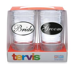 Bride and Groom tervis tumbler - perfect for rehersal dinner :)
