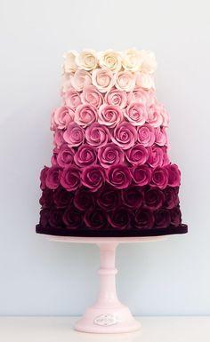 Featured Cake: Rosalind Miller Cakes; Wedding cake idea. #weddingcakes